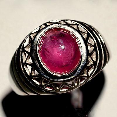 sch ner vintage style 925 silber ring mit echtem mosambik rubin gr 55 ebay. Black Bedroom Furniture Sets. Home Design Ideas
